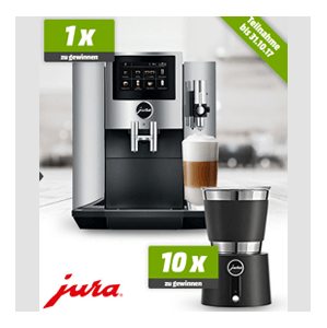 mediamarkt jura s8 espresso kaffee vollautomat und 10 jura milchsch umer hot cold gewinnen. Black Bedroom Furniture Sets. Home Design Ideas
