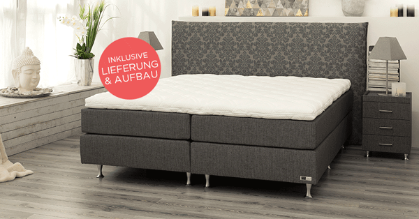 qvc tagesangebot bodyflex boxspring bett lena serie classic design kopfteil wendetopper. Black Bedroom Furniture Sets. Home Design Ideas